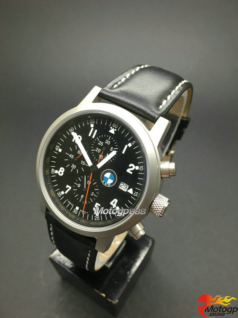 collection chronograph military watch men leather for bmw. Black Bedroom Furniture Sets. Home Design Ideas